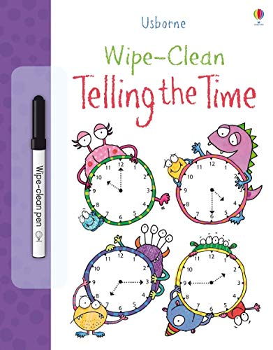 Wipe Clean Telling the Time (Usborne Wipe Clean Books) from Usborne Publishing Ltd