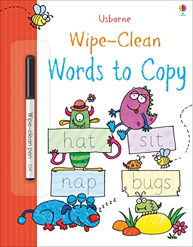 Wipe-Clean Words to Copy (Wipe Clean Books): 1 from Usborne Publishing Ltd