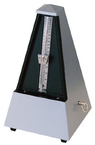 Wittner 2188 Metronome Plastic Silver. With Bell from Wittner