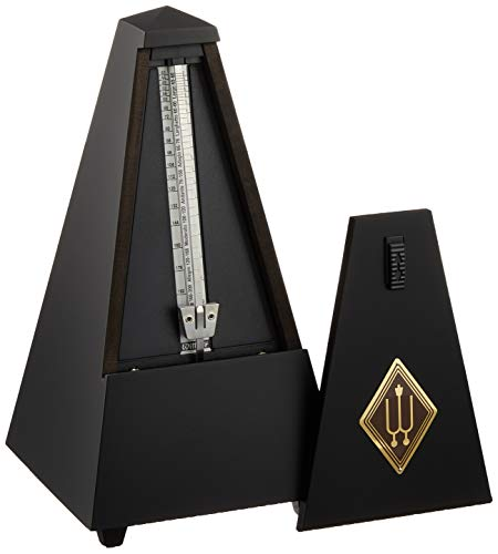 Wittner 903815Traditional Maelzel Pyramid Metronome Wooden Case with Bell and Black Matt from Wittner