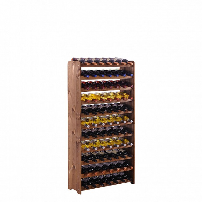 Wooden wine rack OPTIPLUS, model 4, brown stain