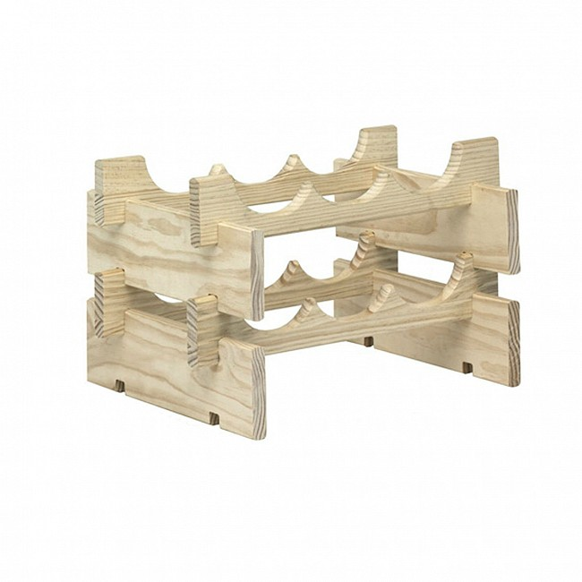 Wooden wine rack system MERLOT natural