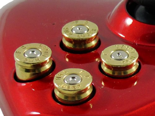 Xbox 360 Bullet Buttons - ABXY 9mm Real Bullet buttons from Games Base from TGC ®