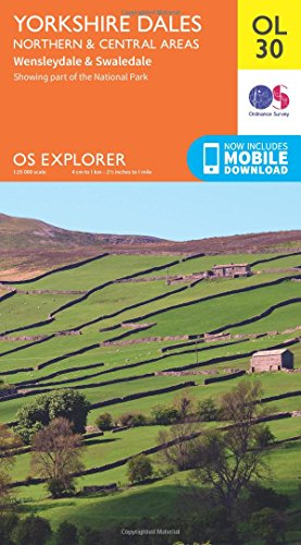 Yorkshire Dales Northern & Central (OS Explorer Map) from Ordnance Survey