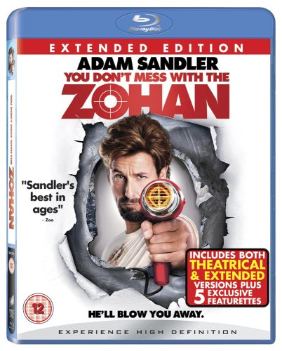 You Don't Mess with the Zohan [Blu-ray] [2008] [2009] [Region Free] from Sony Pictures Home Entertainment