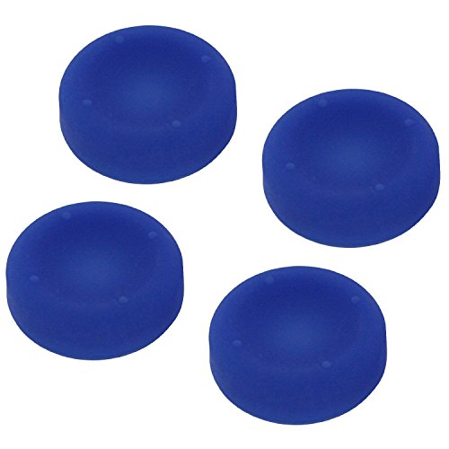 ZedLabz concave soft silicone thumb grips for Sony PS4 analogue thumb stick non slip grip caps for Playstation 4 controller - 4 pack blue from ZedLabz