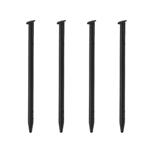 ZedLabz stylus for Nintendo - ̗̀new ̖́- 3DS (new 2015 regular size model) compatible replacement slot in touch screen pens - 4 pack black from ZedLabz