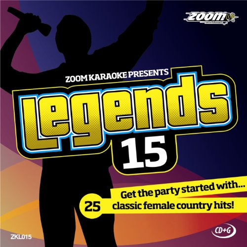Zoom Karaoke CD+G - Legends Volume 15 - 25 Female Country Tracks [Card Wallet]