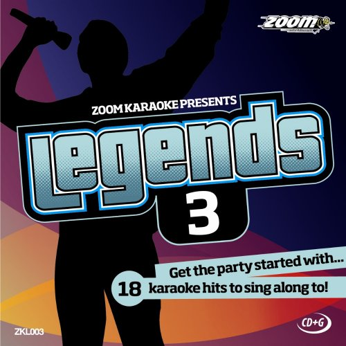 Zoom Karaoke CD+G - Legends Volume 3 - Elton John/Billy Joel/Rod Stewart/Barry Manilow [Card Wallet]