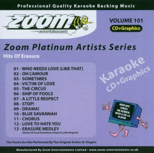Zoom Karaoke CD+G - Platinum Artists 101: Erasure