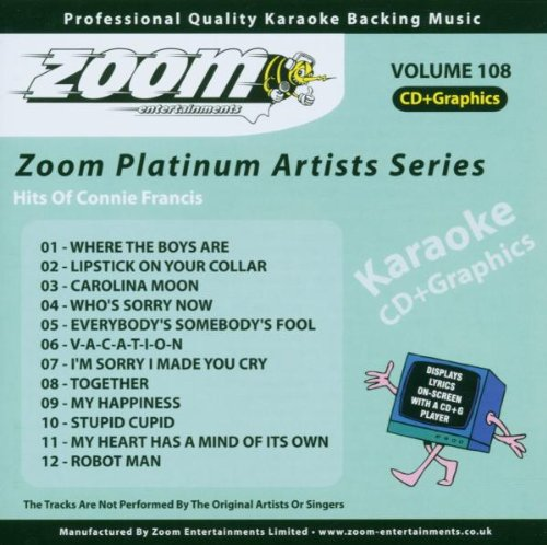 Zoom Karaoke CD+G - Platinum Artists 108: Connie Francis