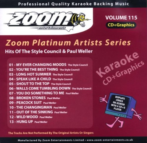 Zoom Karaoke CD+G - Platinum Artists 115: The Style Council & Paul Weller