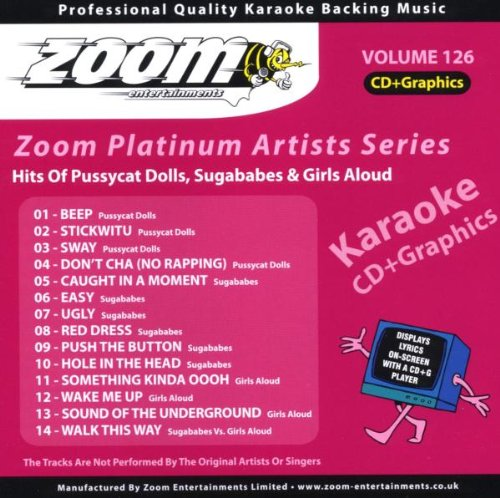 Zoom Karaoke CD+G - Platinum Artists 126: Pussycat Dolls, Sugababes & Girls Aloud from Zoom Karaoke