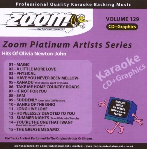 Zoom Karaoke CD+G - Platinum Artists 129: Olivia Newton-John from Zoom Karaoke