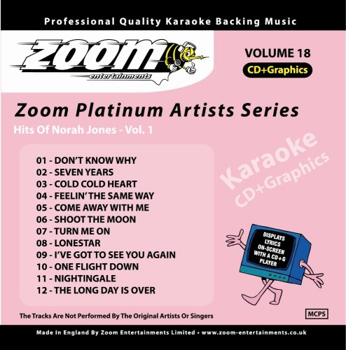 Zoom Karaoke CD+G - Platinum Artists 18: Norah Jones 1