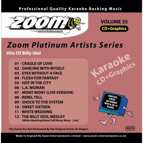 Zoom Karaoke CD+G - Platinum Artists 35: Billy Idol
