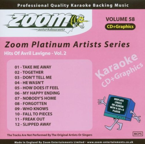 Zoom Karaoke CD+G - Platinum Artists 58: Avril Lavigne 2 from Zoom Karaoke