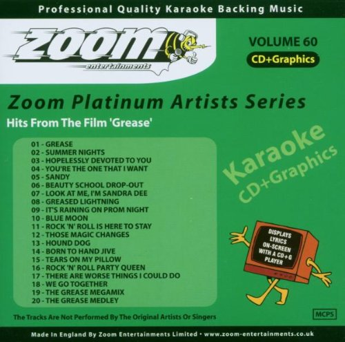 Zoom Karaoke CD+G - Platinum Artists 60: Grease from Zoom Karaoke