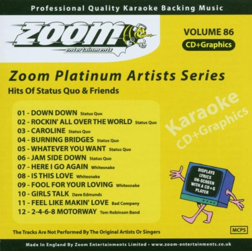 Zoom Karaoke CD+G - Platinum Artists 86: Status Quo & Friends