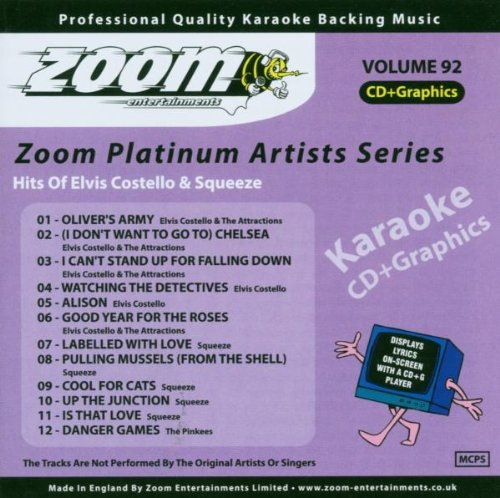 Zoom Karaoke CD+G - Platinum Artists 92: Elvis Costello & Squeeze