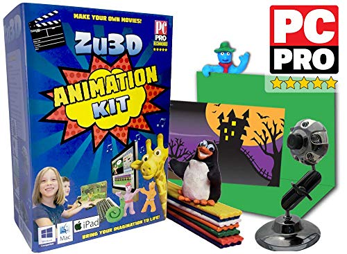 Zu3D Animation Kit for Windows PCs, Apple Mac OS X and iPad iOS: complete stop motion animation kit with camera, software and animation handbook from Zu3D