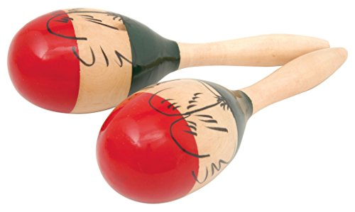 chord MARACAS10 10-Inch Traditional wood Painted Maracas from Chord