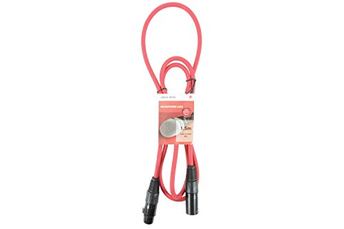 Premium XLR Male - XLR Female Cable | Microphone Cable | Red - 1.5M from Chord