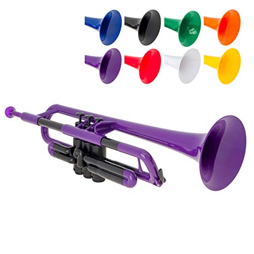 pTrumpet 700629 Trumpet with Mouthpiece and Bag, Purple from pTrumpet