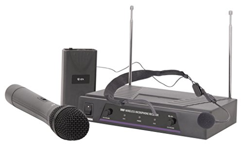 qtx 171.811UK VHN2 Handheld and Neckband Wireless Mic System from qtx