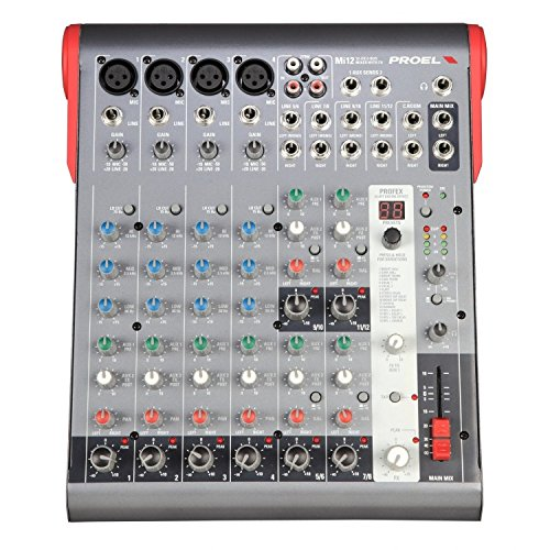 Proel Mi12 12 Channel Mixer with Effect from PROEL