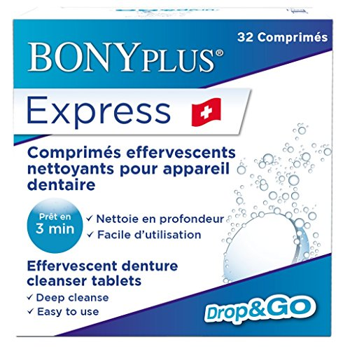Express Denture Cleanser ~ 32 Tablets 3 Minute Daily Dental Cleaning ~ Formerly Professional Denture Cleanser from Professional