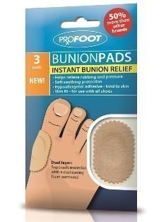 Profoot Bunion Pads Dual Layer Supersoft Moleskin Instant Relief Footcare New Pack Of 2 from Profoot