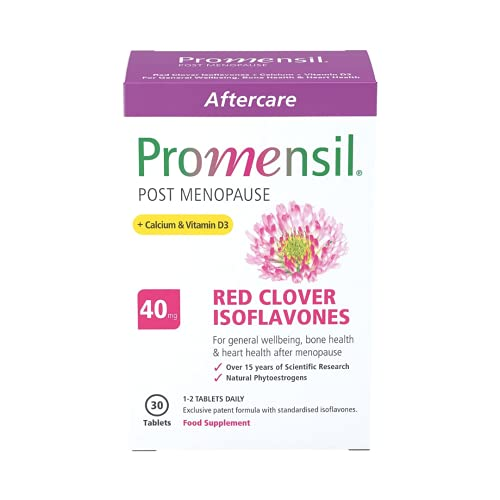 Promensil Post Menopause | Red Clover | Isoflavones | Calcium | Vitamin D3 | 40mg | 30 Tablets from Promensil