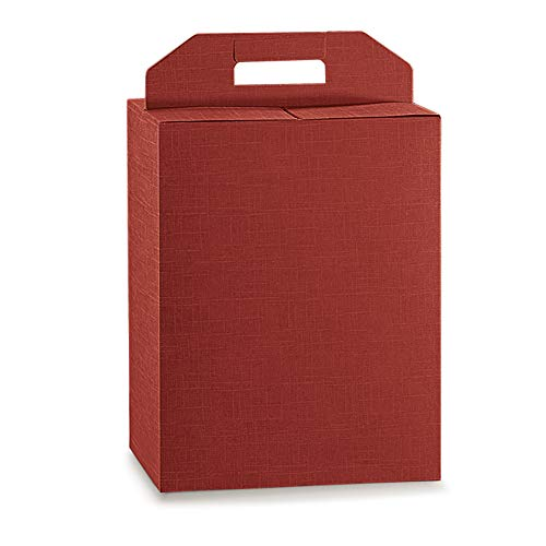 Propac z-botb6 Bottle Box with Handle Elegance Bordeaux, 27 x 18 x 34 cm, Pack of 20 from Propac