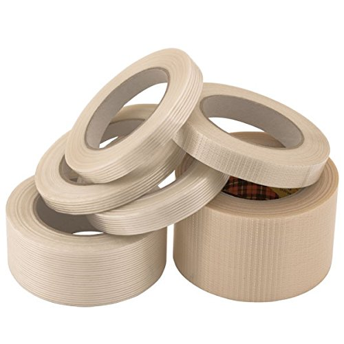 Propac z-nrinu25 Longitudinal Classic Tough, Weave Weft Adhesive Tape, 25 mm x 50 m, Pack of 25 from Propac