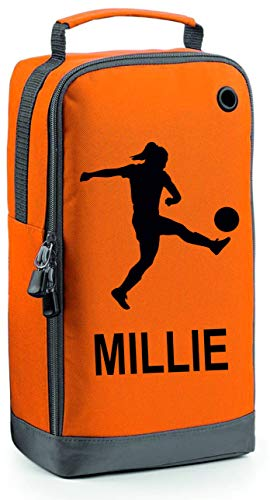 Girls Personalised Football Boot Bag by Prospo (Orange) from PROSPO