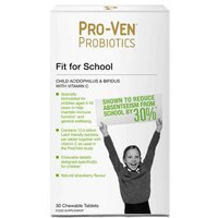 Proven Probiotics Child Acidophilus & Bifidus With Vitamin C.  Fit  For School 30 Chewable Tablets from Proven Probiotics