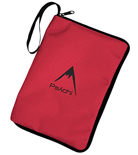 Psychi Climbing Outdoor Hill Walking Guide Book Manual Map Zip Cover Case (Red) from Psychi