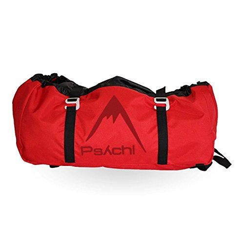 Psychi Climbing Rope Bag with Ground Sheet Buckles and Carry Straps (Red) from Psychi