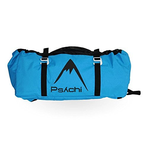 Psychi Rock Climbing Rope Bag with Ground Sheet Buckles and Carry Straps (Blue) from Psychi