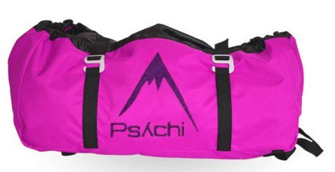 Psychi Rock Climbing Rope Bag with Ground Sheet Buckles and Carry Straps (Pink) from Psychi
