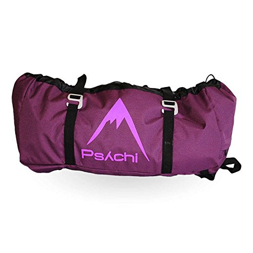 Psychi Rock Climbing Rope Bag with Ground Sheet Buckles and Carry Straps (Purple) from Psychi