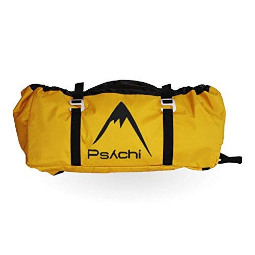 Psychi Rock Climbing Rope Bag with Ground Sheet Buckles and Carry Straps (Yellow/Gold) from Psychi