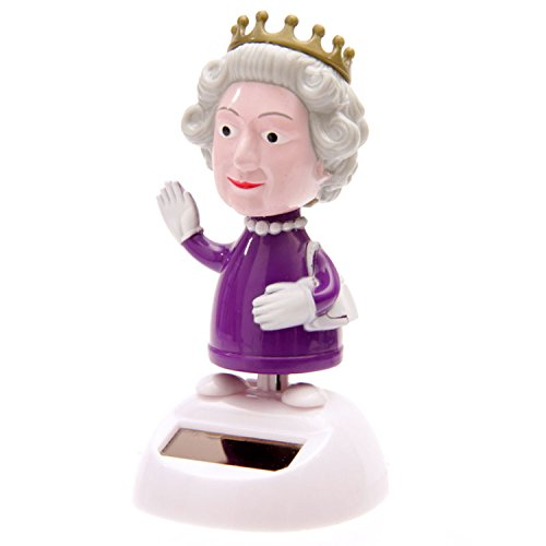Puckator FF30 Solar-Powered Dancing Queen Ornament, Purple, L x 8 cm W x 10 cm H from Puckator
