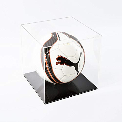 Football Display Case - Black Base from Puffin Plastics