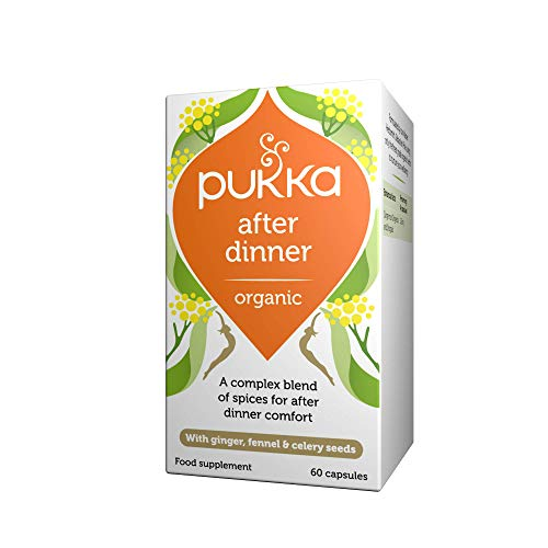 Pukka Herbs - After Dinner, Organic Seven Seeds, Ginger & Fennel - Pack of 60 Capsules from Pukka Herbs