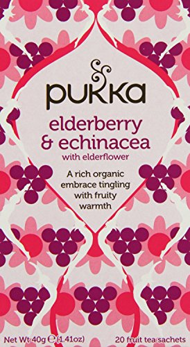 (2 Pack) - Pukka Herbs - Elderberry & Echinacea Tea | 20 sachet | 2 PACK BUNDLE from Pukka