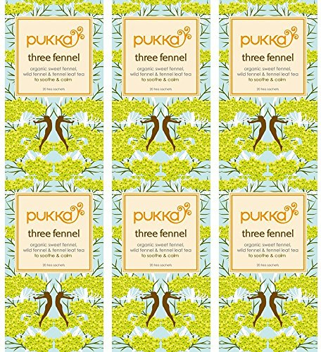(6 PACK) - Pukka Herbs - Three Fennel Tea | 20 sachet | 6 PACK BUNDLE from Pukka