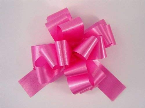 "30 x 30mm (1.5"") Rapid Satin Ribbon Pull Bows - CERISE HOT PINK for Gift Decorations, Flower Bouquets & Arrangements, Baskets, Wedding Cars, Floral Tributes, Arts & Crafts, Christmas Hampers from Smithers Oasis"
