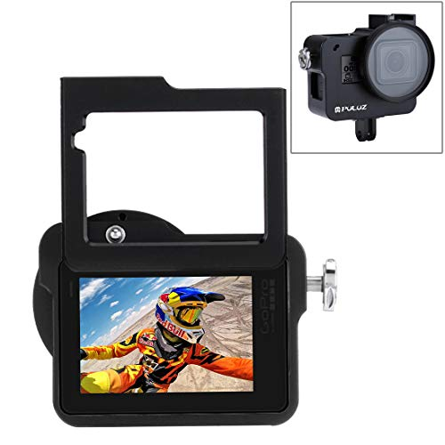 Black XHC Metal Protective Cage Housing Shell CNC Aluminum Alloy Protective Cage with 37mm UV Lens Filter /& Lens Cap for GoPro HERO3+ //3 Color : Black